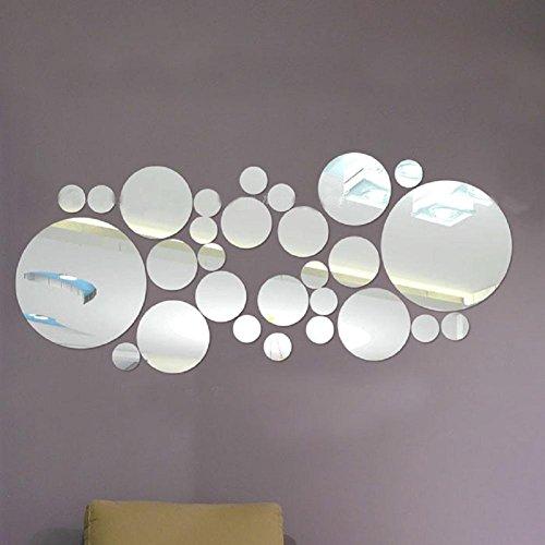 YYH DIY Wand Aufkleber Combo Runde Acrylspiegel Wand Aufkleber wasserdichte kreative Persönlichkeit im Spiegel Decke Dekoration Aufkleber (Decke-wand-combo)