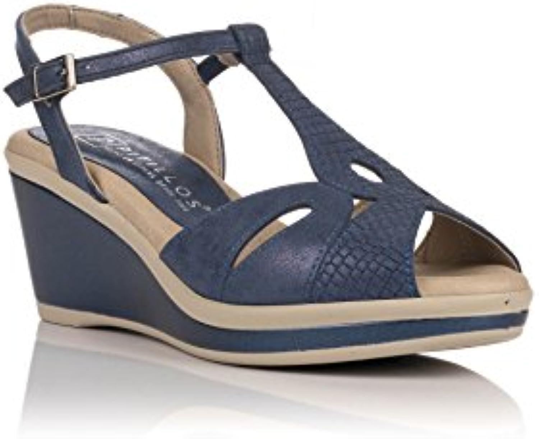 HUAIHAIZ Tacones altosEl tobillo tarde zapatos sandalias de tacón 33, plata 8,5cm Silver 8.5cm