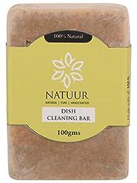 NATUUR Dish Cleaning Bar - 100 grams (Green)