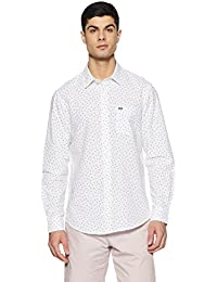 Arrow Sports Men's Printed Slim Fit Casual Shirt