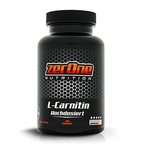 ZerOne Nutrition Premium L-Carnitin 120 Kapseln hochdosiert, Gewichtsreduzierung Abnehmen Fettverbrennung Fatburner Definitionsphase Freelatics