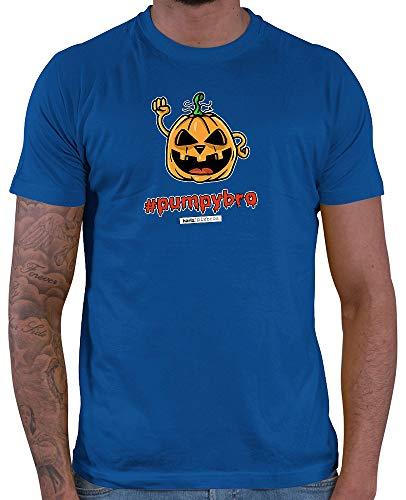 HARIZ  Herren T-Shirt Pixbros Pumpybro Halloween Kostüm Horror Umhang Plus Geschenkkarte Royal Blau L