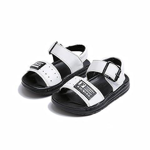 Kinder Sandalen, Chickwin Im Freien Kinder Schuhe Öffnen Toe Sommer Strand Flache Sandalen (22, (Bama Rolle)