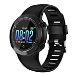 Bluetooth Smart Smart Watch, Fitness Tracker mit Pulsmesser, Bluetooth 4.0 Touch Runder Bildschirm Schlaf Monitor Schrittzähler, Remote Foto Sportuhr Unterstützung Android IOS für Männer Frauen