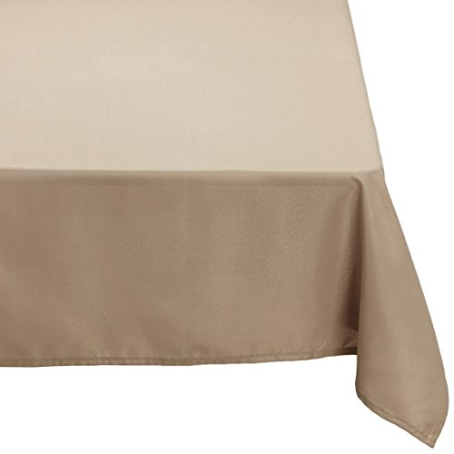 Soleil d'Ocre 817232 Alix Nappe Anti Tâches Rectangle Polyester Taupe/Ecru 140 x 240 cm