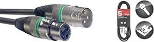Stagg SMC1 GR Cavo per microfono da 1 m, 3 Pin XLR Maschio-Femmina
