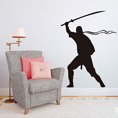Kunst Wanddekor Abnehmbare Vinyl Aufkleber Krieger Wandaufkleber Für Wohnzimmer Kinder Dekorationen Solider Armee Kreatives Design Poster ~ 1 58 * 80 cm -