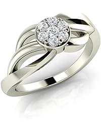 Silvernshine Halo Round Cut Sim.Diamond Engagement Ring Prong Setting In 14k White Gold Fn