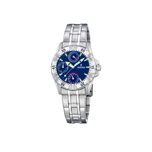 FESTINA F16060/4 - Reloj de mujer de cuarzo, correa de acero inoxidable color plata