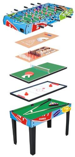 HUDORA Multifunktionstisch 9 in 1 - Kicker-Tisch Billardtisch - Spieltisch