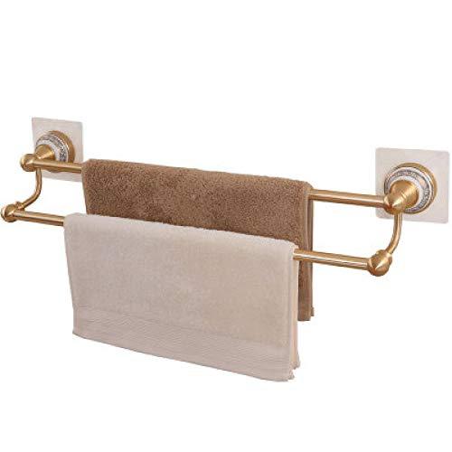 WOSBE Handtuchhalter mit starken Saugnapf Bad Wandhalterung Handtuchhalter mit starken Saugnapf, Blau-weißer Aluminium-Doppelhandtuchhalter aus Porzellan
