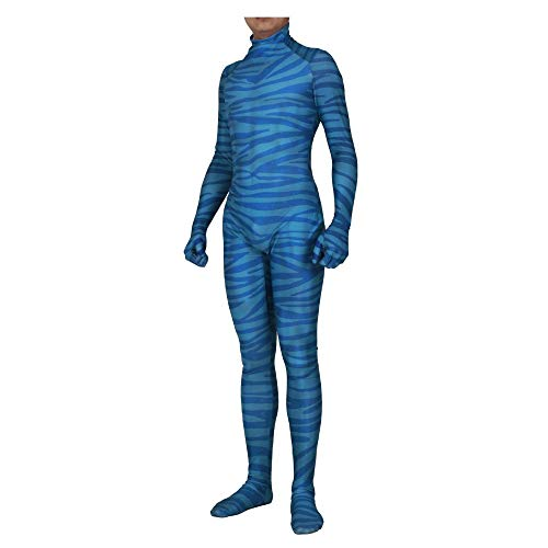 JUFENG Avatar Cosplay Kostüme - Lycra Zentai - Mens Adult/Kinder Boy Halloween Party Kostüm Full Set,A-Adult/XXL (Adult Kostüm Party)