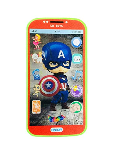 DD RETAILS Kids Toys Digital Mobile Phone with Touch Screen Feature, Amazing Sound and Light Toy (Avanger)
