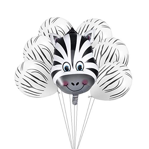 ier Kopf Ballons Zebra Foto Requisiten Balloon Party Dekoration 7 Stücke ()