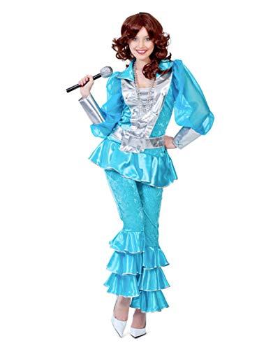 Mama Kostüm Mia - Horror-Shop 70er Jahre Mama Mia Damen Kostüm Deluxe türkis 36