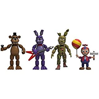 Funko 8864  Five Nights at Freddy's Action Figure Set 4 Pack - Freddy, Bonnie, Spring trap and Balloon Boy