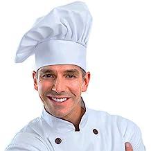 Greemosi Gorro de Chef tamaño Ajustable Seta Chef Sombrero para pastelería Cocina Cocina Chef Obras (