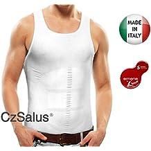 Camiseta de contención adelgazante de hombre en Bio-Fir emana®, efecto adelgazante (blanco, L)