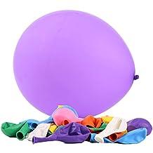 Los globos del látex, 12 pulgadas clasificaron el volumen de 144 PC, 8 colores 18 PC / color, gran variedad de colores surtidos Perfeccione para el desfile de la boda del partido de graduación del compromiso del cumpleaños Decoración de los globos por Holeco