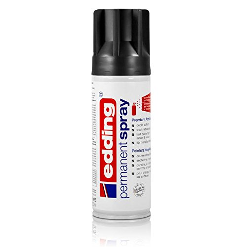 """edding 5200""""permanent spray"""", glänzend Tiefschwarz"""
