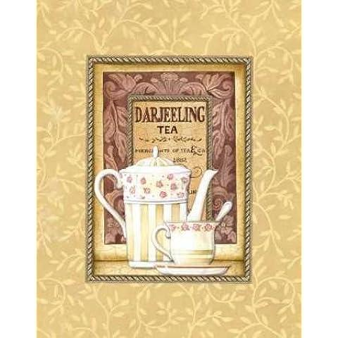 Té de Darjeeling por Audrey, Charlene–Fine Art Print disponible sobre lienzo y papel, lona, SMALL (13 x 16.5 Inches )