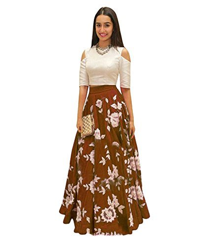 salwar suits for women(Vaankosh Fashion Women's Partywear latest new collection 2017 Offer Embroidered Dress) (Cofee)  available at amazon for Rs.429