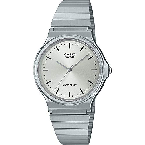 CASIO Unisex Adult Analogue Quartz Watch with Stainless Steel Strap MQ-24D-7EEF Best Price and Cheapest