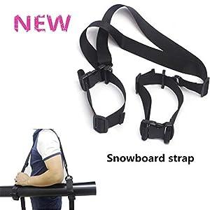 Aoile Tragbarer Skiband Skifahren Snowboard Schnee Abnehmbarer Bundling Gürtel