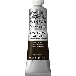 Winsor & Newton Griffin Alkyd - Tubo óleo de secado rápido, 37 ml, color negro marfil