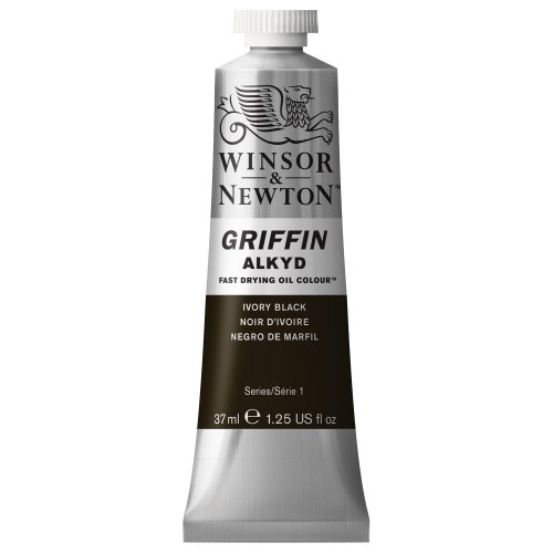 winsor-newton-griffin-37ml-alkyd-fast-drying-oil-colour-tube-ivory-black