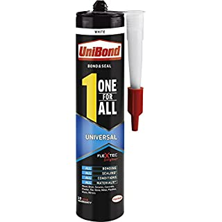 UniBond One For All Universal Adhesive & Sealant / Strong Adhesion All-Purpose Glue Solvent Free / Bond, Seal, Mount, Fill / 1x 390g
