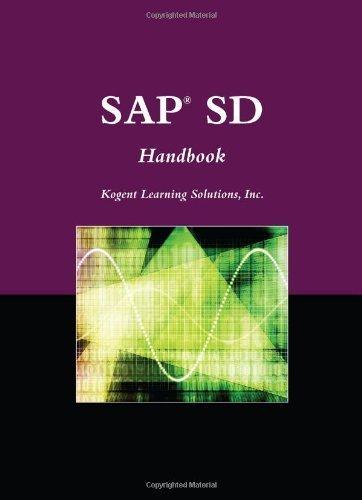 SAP?? SD Handbook (Jones and Bartlett Publishers SAP Book) by Inc., Kogent Learning Solutions (2010-04-06) par Kogent Learning Solutions Inc.