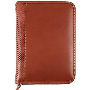 ELEGANT Echtes Leder Tagebuch - cm 15x21 / 17x24 - täglich oder wöchentlich - hellbraun-Handmade in Italy