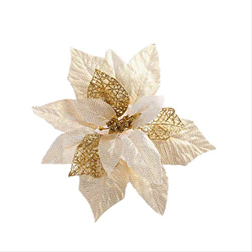 MHSM Künstliche Blumen Zwiebelpuder Gold und Silber Weihnachtsschmuck Weihnachtsblume Kunstblumen Dekorieren Weihnachtsbaum Ornamente 20 cm lila