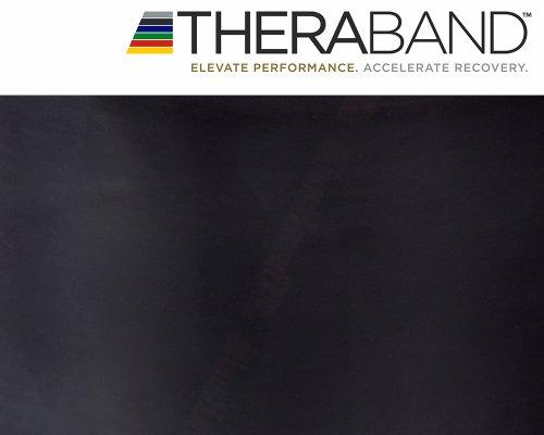 Original Thera-Band 2,5m schwarz + Original 24-seitiges Übungsbuch gratis