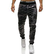 BOLF Hombre Pantalón Deportivo Jogger Camuflaje Militar Estilo Urbano 6F6
