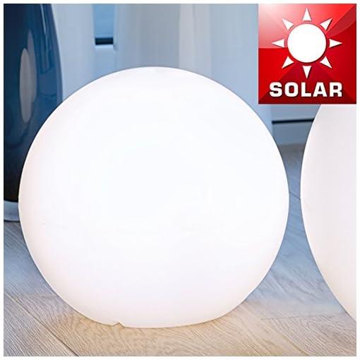Lampade Da Esterno Plastica.Mia Light Palla Lampada Solare O300 Mm Led Modern Bianco Plastica