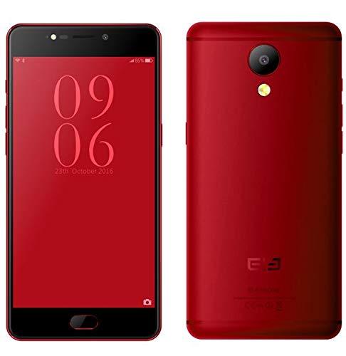 ELEPHONE P8 Android Dual SIM Smartphone 4G LTE ohne Vertrag, 5.5 Zoll FHD Bildschirm Helio P25 2.5 GHz Octa Core Prozessor 6GB+64GB 16MP+21MP Kamera 0.9 mm ultradünner Rand - rot