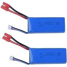 YouCute 2 piezas 7.4V 2000mAh baterías para SYMA X8HC X8HG X8C X8G X8W RC quadcopter piezas de repuesto accesorios