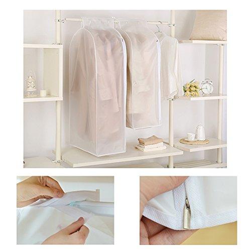 The Best Kingdom Kleiderschutzhülle Anzug Mantel Kleidung Staubschutz Kleidersack mit Reißverschluss Kleidung Lagerung Hängetasche für Brautkleider Abendkleider Anzüge Mäntel (M)