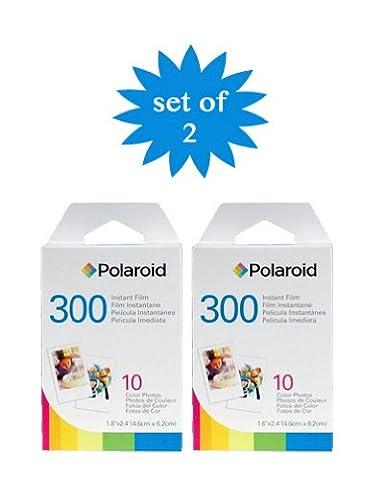 2 Pack du Polaroid Instant Film PIF-300 pour la caméra
