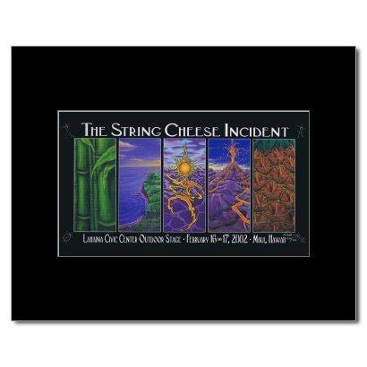 STRING Käse Zwischenfall-Lahaina Civic Centre Maui HI 2002 Poster, Miniposter, matt, 24 x 14 cm - String-käse