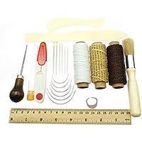 Rlorie 23-teiliges Buchbinde-Set für Anfänger, Buchbinderwerkzeuge für Handnähen, Nähräder und Stempelset
