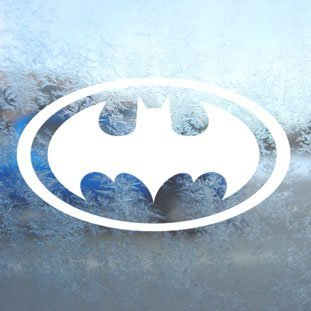 Aufkleber Batman White Decal Window Laptop Vinyl White Sticker