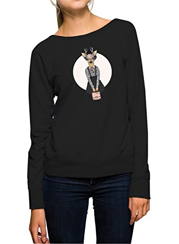 Fashion Deer Sweater Girls Black Certified Freak-XL