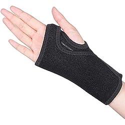 Handgelenkschiene Karpaltunnelsyndrom Handgelenkbandage Sehnenscheidenentzündung Schiene Handgelenkstütze leder Handgelenkschoner mit abnehmbarer Schiene Stabilisator für Schmerzlinderung-Recht