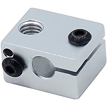 TOOGOO Bloc chauffant d'alliage d'aluminium V6 pour l'extrudeuse J-tete de V5 V6 HotEnd Imprimante 3D de pieces chauffant l'element chauffant accessoires 20 * 16 * 12