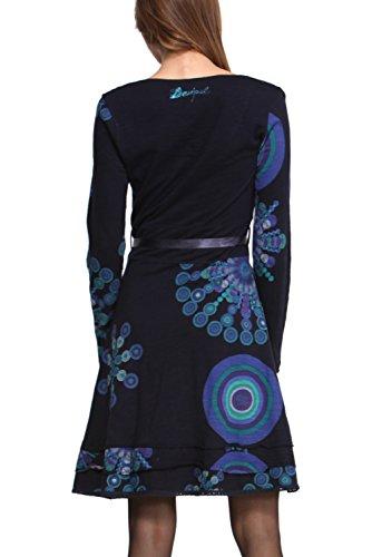 Desigual Saanne - Robe - Manches longues - Femme Bleu (5001)
