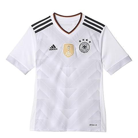 adidas DFB H JSY Y Maillot de domicile Fédération allemande de football pour garçon, Blanc (Blanc / Noir), 152