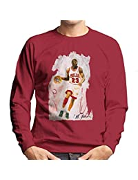 6d7aefa05174 Sidney Maurer Original Portrait of Basketball Star Michael Jordan Men s  Sweatshirt
